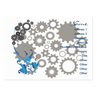 Gears and Leaves Pack Of Chubby Business Cards