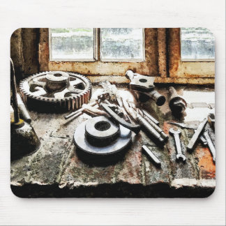 Gears and Wrenches in Machine Shop Mousepads