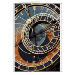 Gears Clock  MeDiEvAL Destiny Gifts Greeting Card