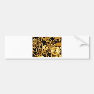 Gears Gold Clock Grunge Steampunk Office Destiny Bumper Sticker