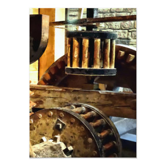Gears in a Grist Mill 13 Cm X 18 Cm Invitation Card