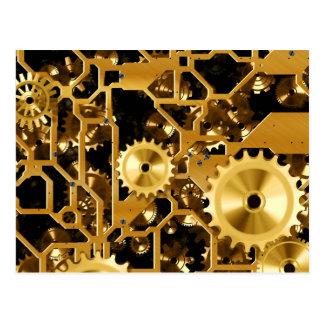 Gears in Gold Postcard