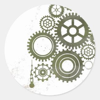 Gears n Cogs Classic Round Sticker