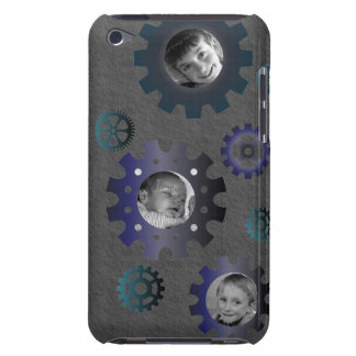Gears on Granite 3 Photo Frame iPod 4 Case iPod Case-Mate Cases