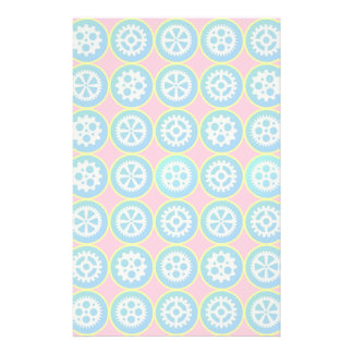 Gearwheels pattern stationery