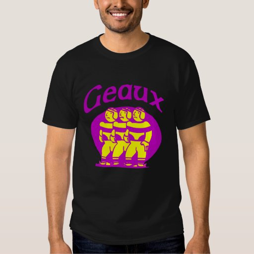 Geaux Purple and Gold Tshirt