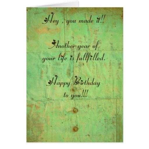 Geburtstagskarte 3 english cards
