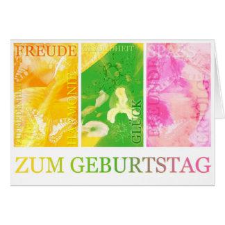 Geburtstagskarte Glück Freude horizontal Karte