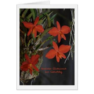 Geburtstagskarte mit Orchidee Grußkarte