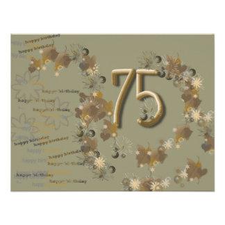 geburtstagskarte zum 75 ten individuelle ankündigung