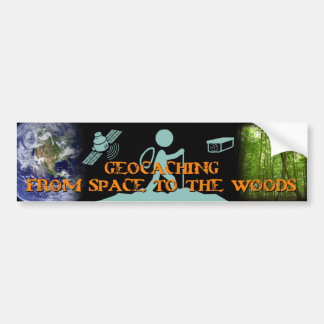 GECACHING from space to the woods Bumper Sticker