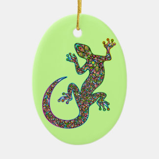 Geck Gecko Psychedelic Design Ornament