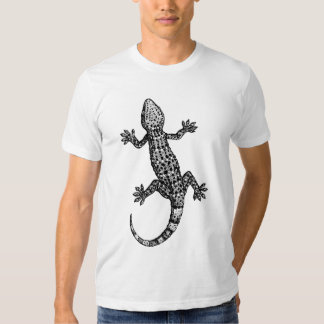 GECKO BLACK AND WHITE T-SHIRT