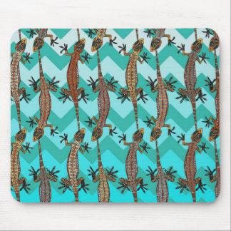 gecko chevron mouse mat