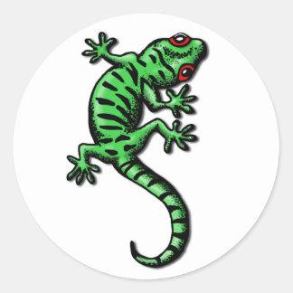 gecko classic round sticker
