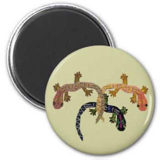 Gecko Dance 6 Cm Round Magnet