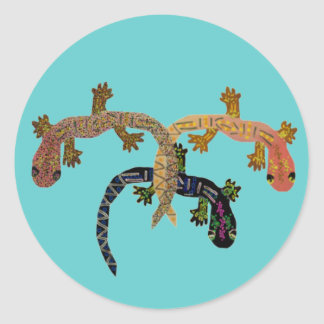 Gecko Dance Classic Round Sticker