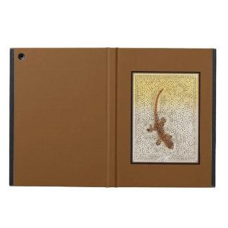 Gecko framed in dark gold iPad air case