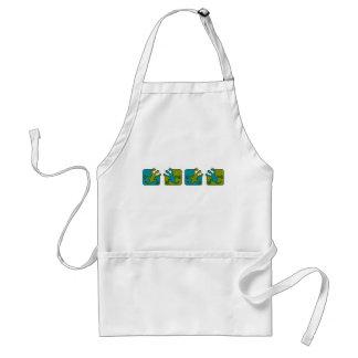 Gecko / Lizard apron, choose style & customize Standard Apron