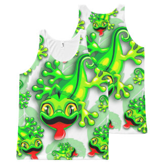 Gecko Lizard Baby Cartoon All-Over Print Tank Top