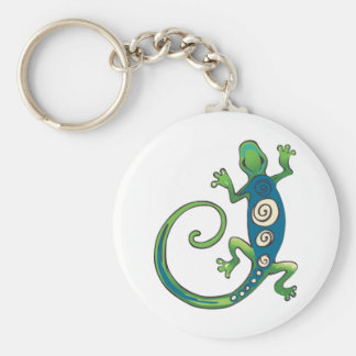 GECKO LIZARD BASIC ROUND BUTTON KEY RING