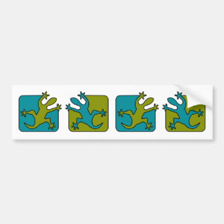 Gecko / Lizard bumper sticker