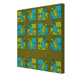 Gecko / Lizard canvas print, customize