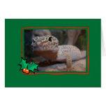 Gecko Lizard Christmas Card