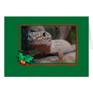 Gecko Lizard Christmas Card