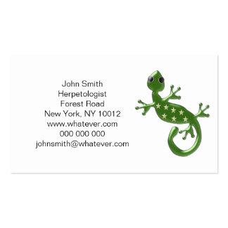 Gecko Lizard Herpetologist Pack Of Standard Business Cards