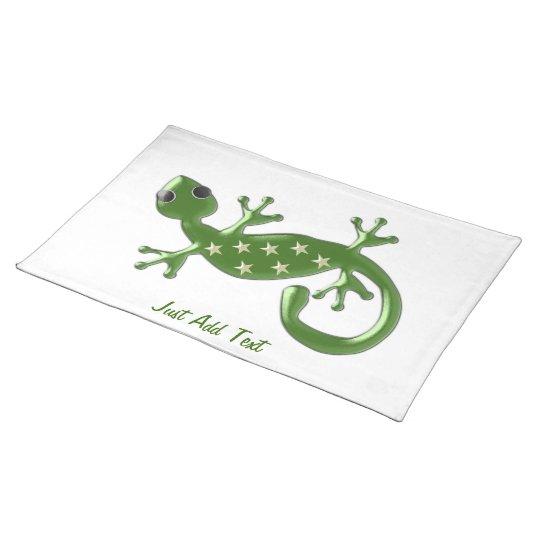 Gecko Lizard Just Add Text Place Mat