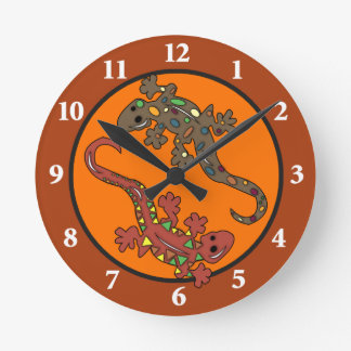 Gecko Lizard Mexican Theme Wall Clock