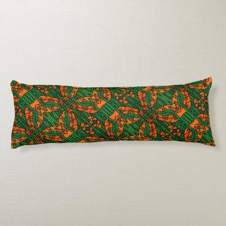 Gecko Lizard Orange And Green  Pattern Body Cushion