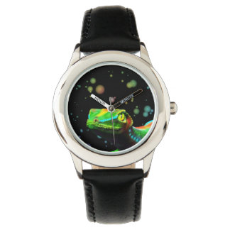 Gecko Lizard Rainbow Colors watches