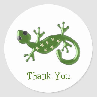 Gecko Lizard Thank You Classic Round Sticker