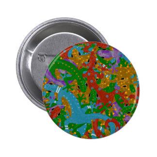 Gecko Mania 6 Cm Round Badge