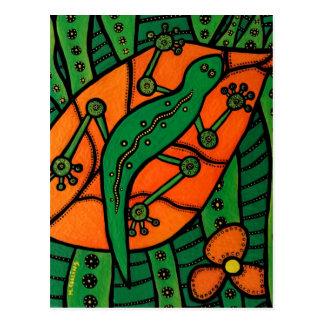 Gecko Orange And Green Postcard