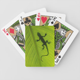 Gecko Silhouette Bicycle Playing Cards