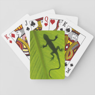 Gecko Silhouette Playing Cards