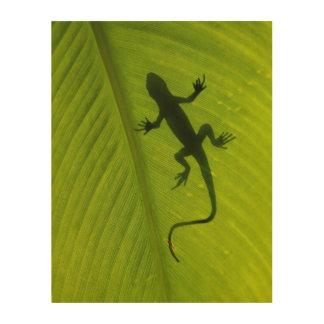 Gecko Silhouette Wood Prints