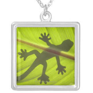 Gecko Silver Plated Necklace