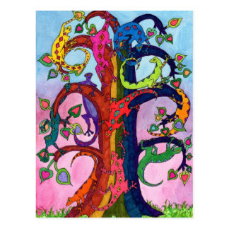 Gecko Tree of Life Post Cards