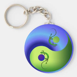 Gecko Yin Yang Key Ring