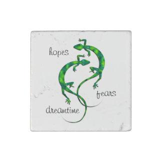 Geckos Stone Magnet