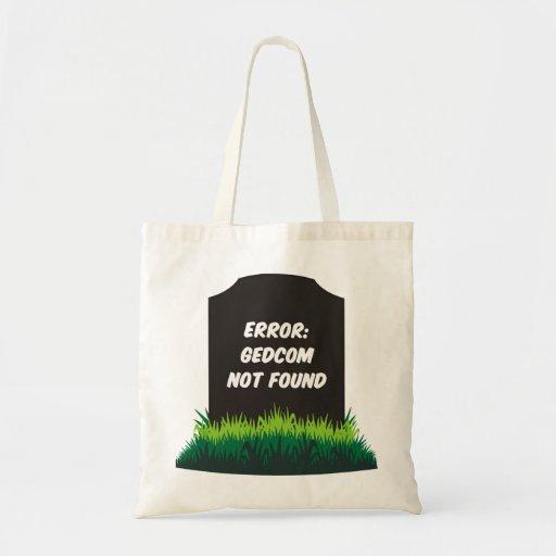 GEDCOM Not Found Canvas Bags