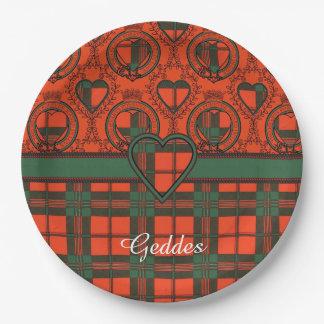Geddes clan Plaid Scottish kilt tartan Paper Plate