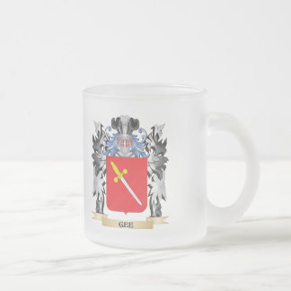 Gee Coat of Arms - Family Crest Frosted Glass Mug