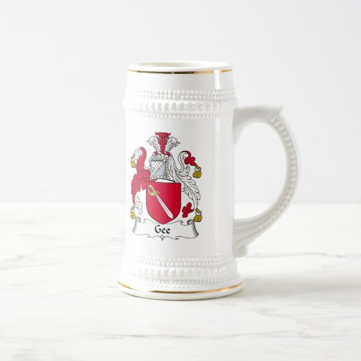 Gee Family Crest Mugs