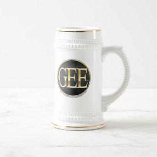 GEE Gold & Silver Stein Mug