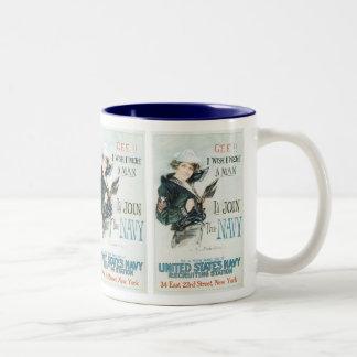 Gee!! I Wish I were a Man Two-Tone Coffee Mug
